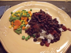 Black beans and rice!